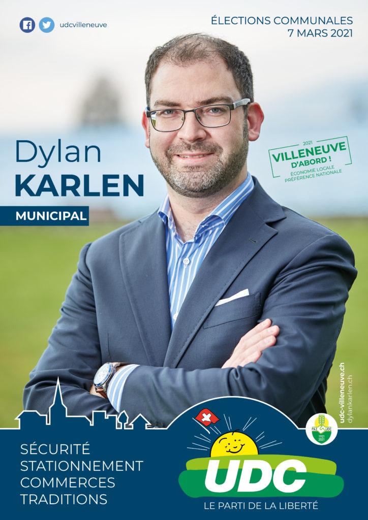 Affiche de campagne - Dylan Karlen à la Municipalité 2021